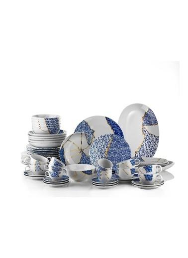 Kütahya Porselen Kütahya Porselen Zeugma Kintsugi 28 Parça Yemek Takımı Renkli